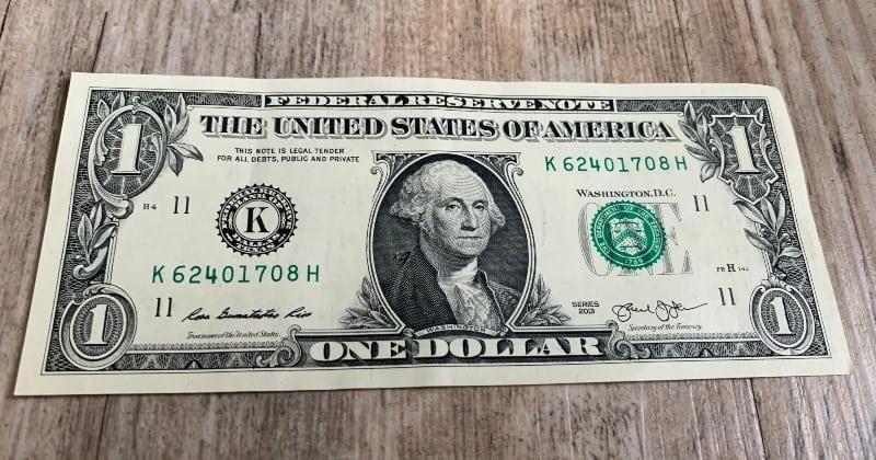 dollar bill origami shirt start